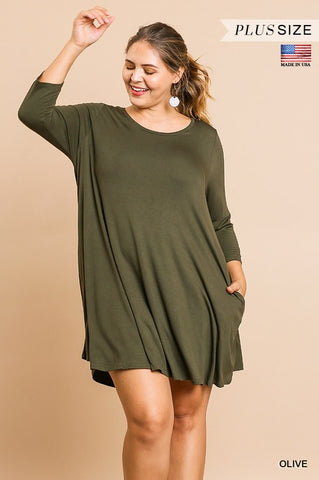 SCOOP NECK TSHIRT DRESS