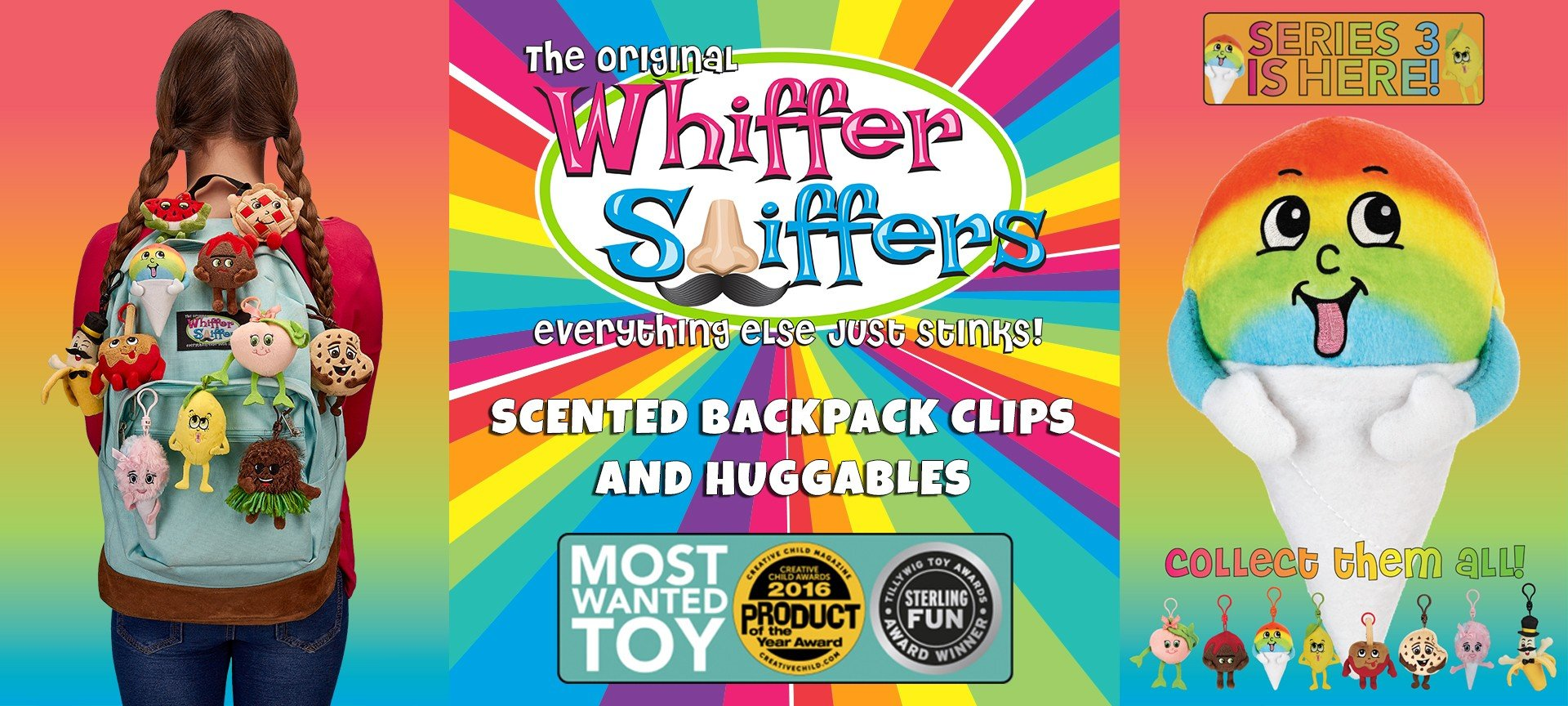 Whiffer Sniffer Backpack Clips Banner