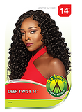 Curly Synthetic Crochet Outre X PRESSION 4in1 Loop Deep Twist 14""
