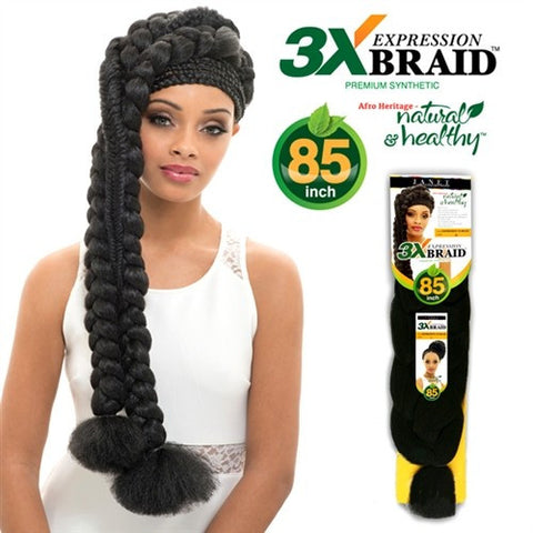 Synthetic Braid Janet EXPRESSION Braid 3X Braid PP 85""