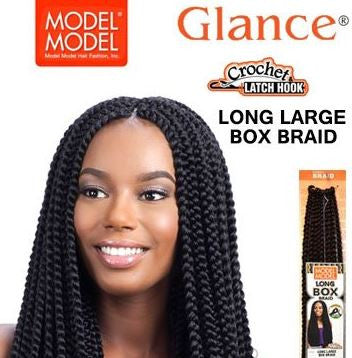 Synthetic Crochet Modelmodel Glance Large Box Braid Beauty Supply