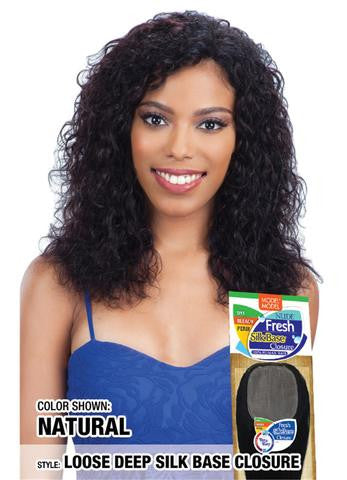 Model Model Fresh W/W closure Silk base Loose Deep