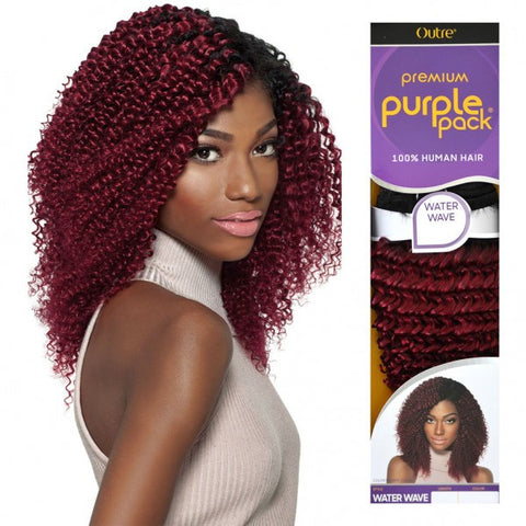 Curly Human Weave Outre Premium Purple Pack Water Wave