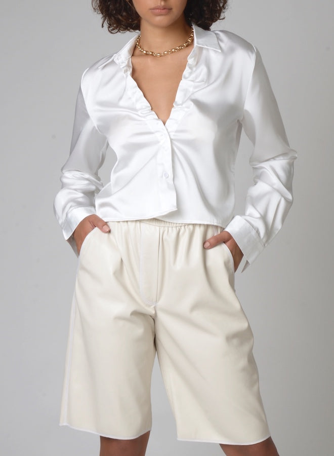 120107 Eden Ruched Collar Blouse