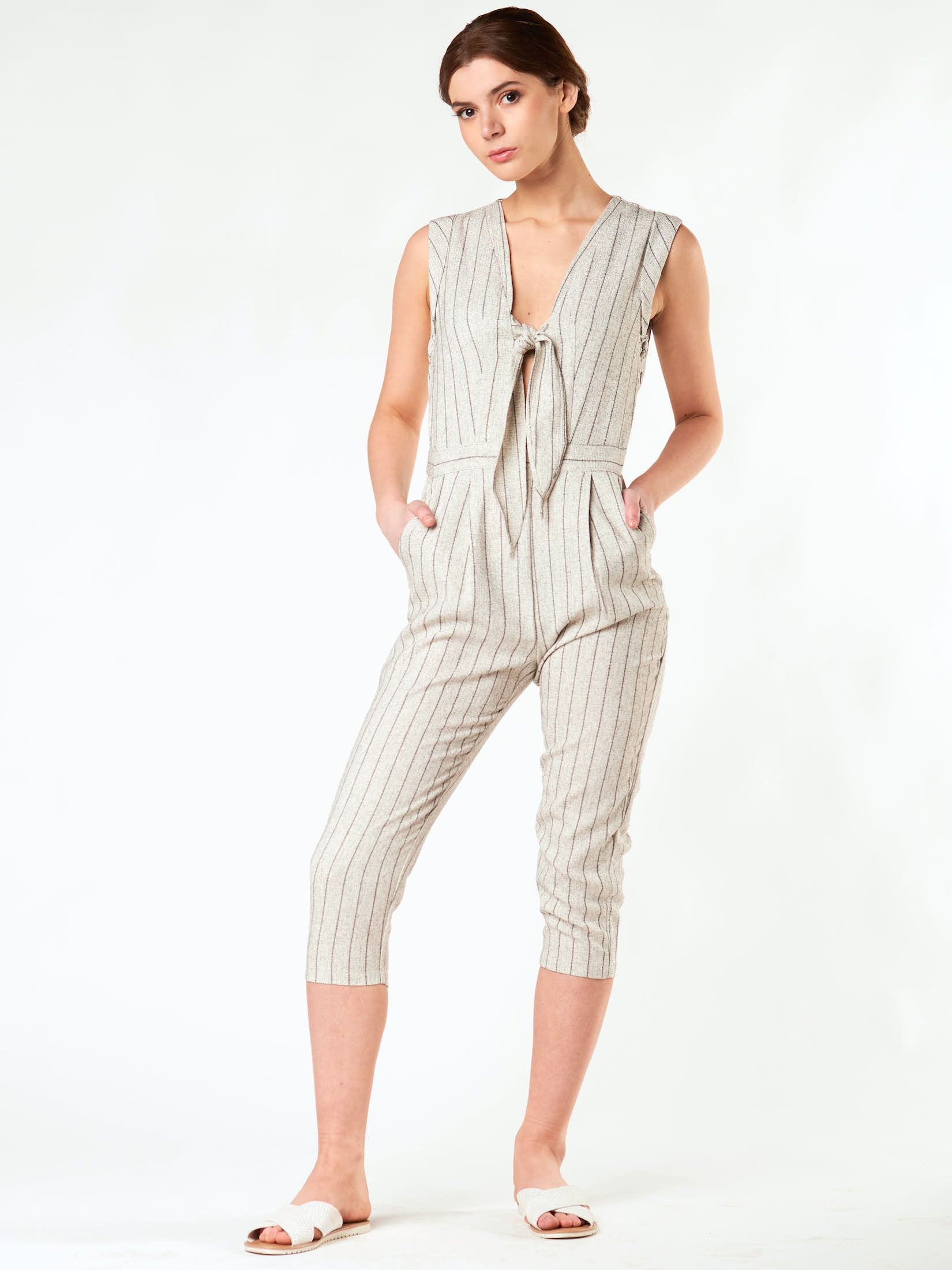 BOYFRIEND STRIPED JUMPSUIT