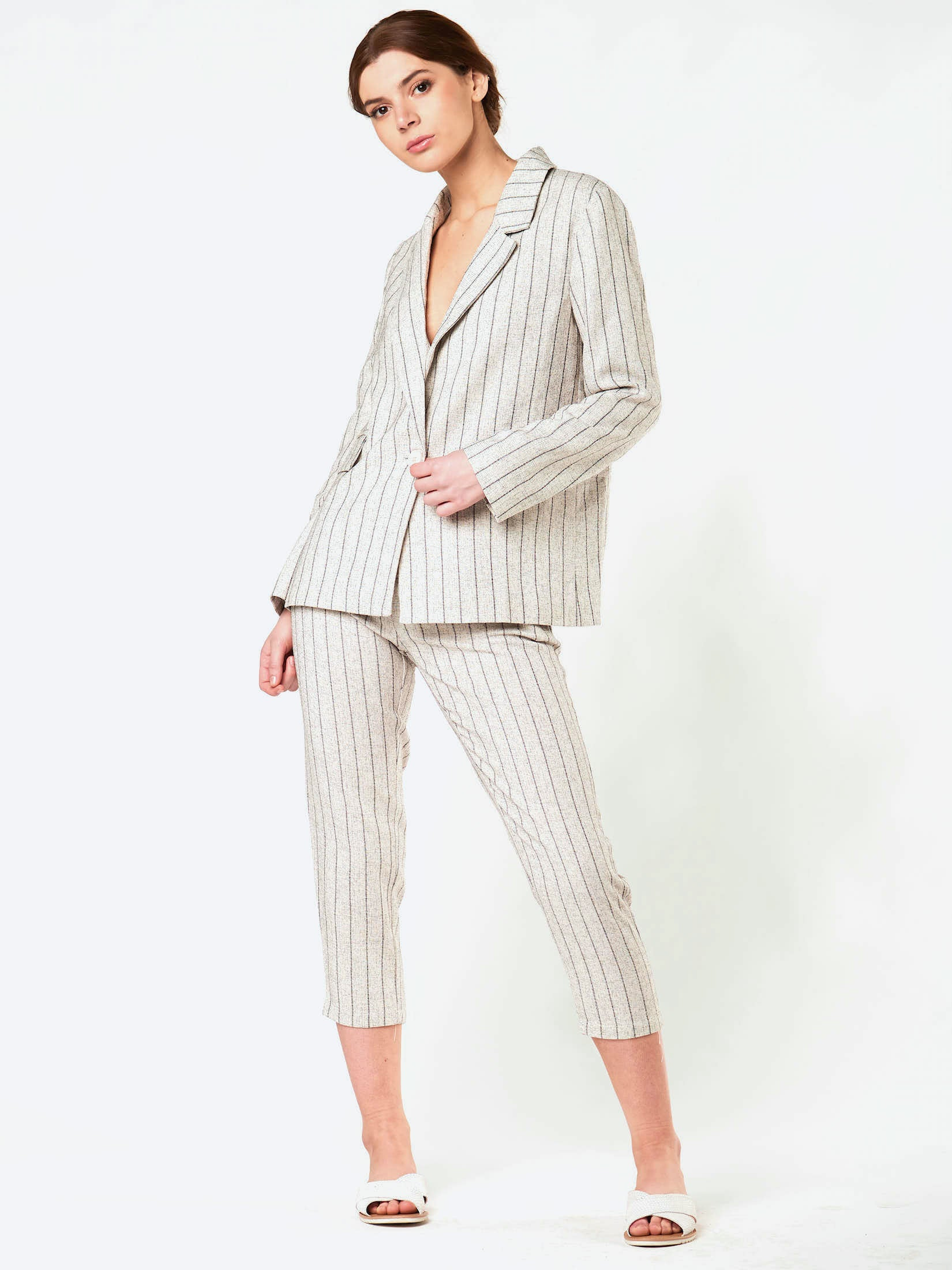 84003 BOYFRIEND STRIPED BLAZER