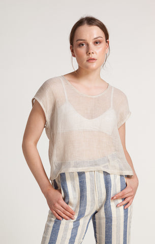 86304 MAIA ASH BLUE FRONT TWIST TOP