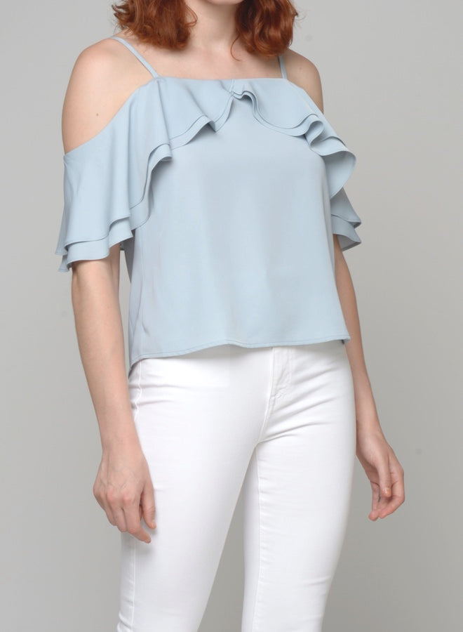88125 Tamilla Cold Shoulder Top