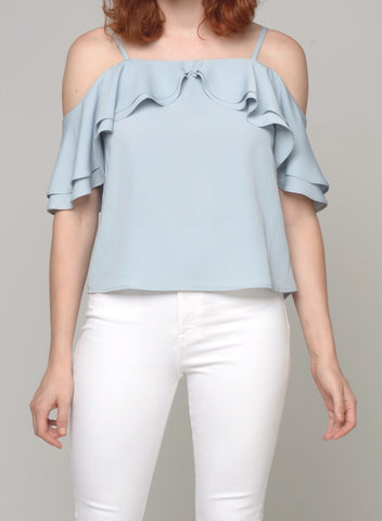 88121 Iris Lace Shoulder Top