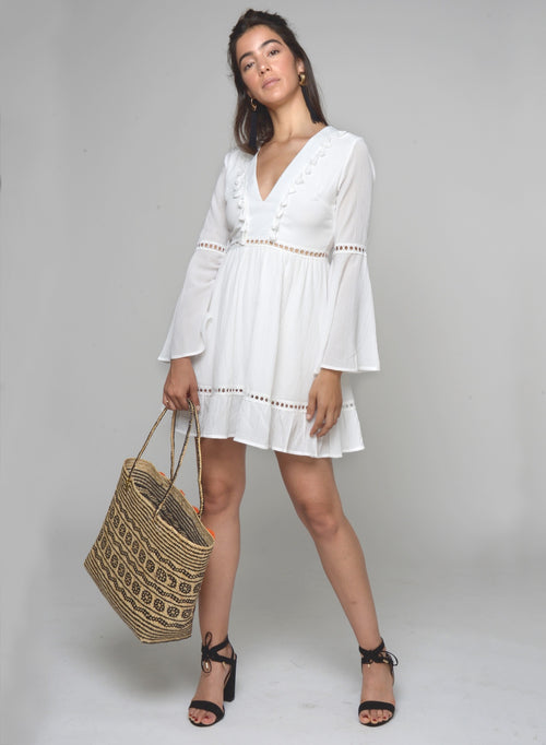 88504 Keyla Tassel Boho Dress