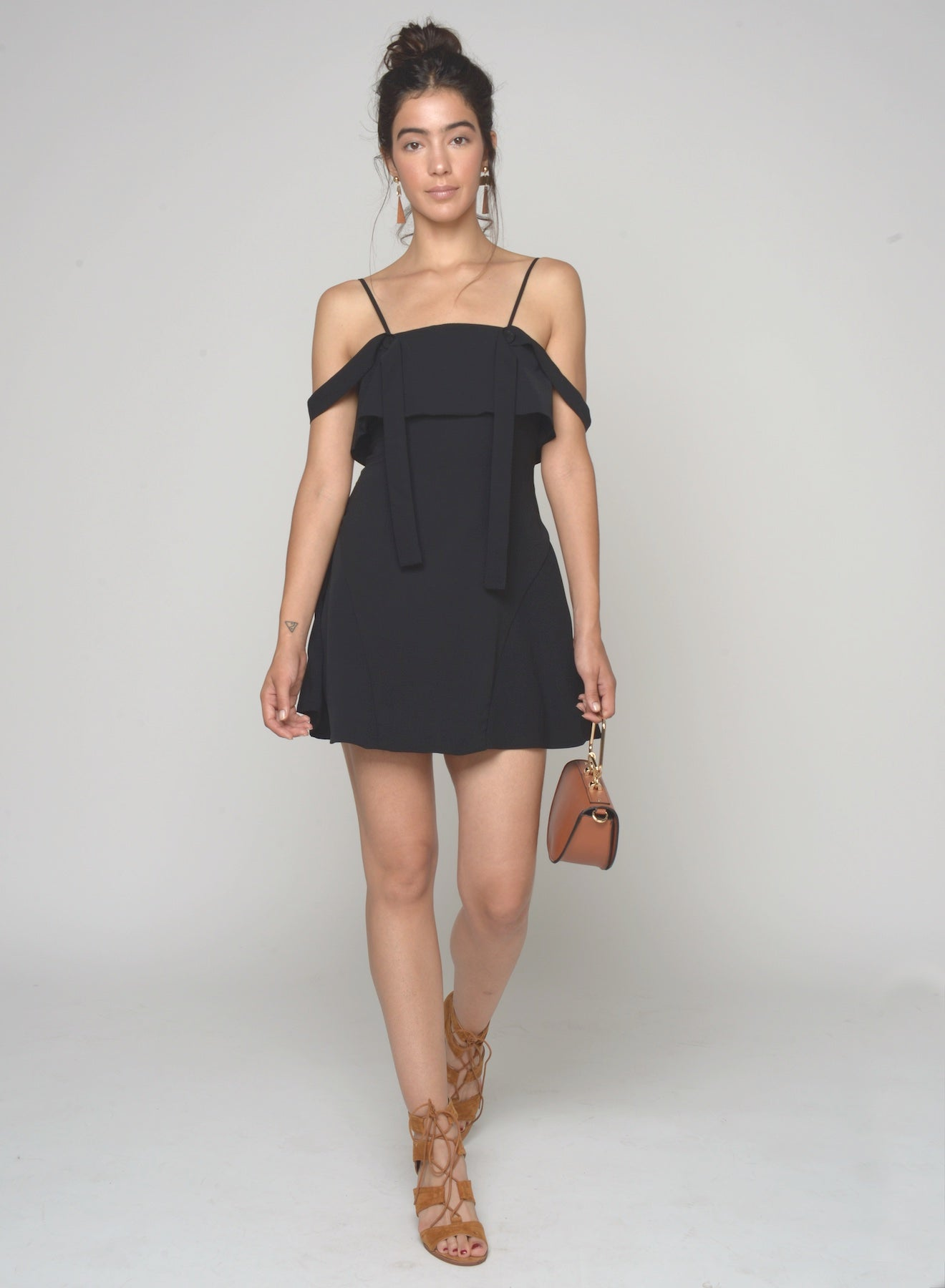 88505 Sanne Off Shoulder Strap Dress