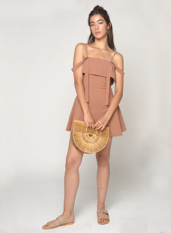 ROSIE ROSE GOLD WRAP DRESS