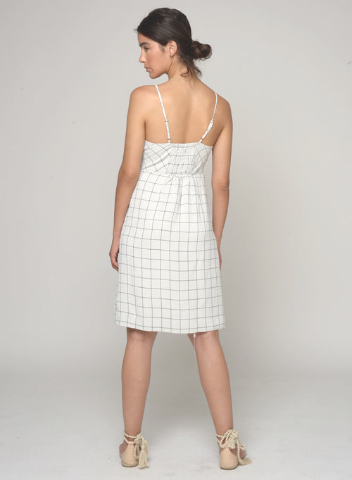 88514 Peppa Asymmetric Check Print Dress