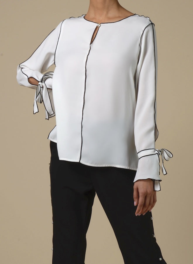 89118 Contrast Edge Shell Button Shirt