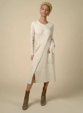 87308 Elle Cross Wrap Front Sweater