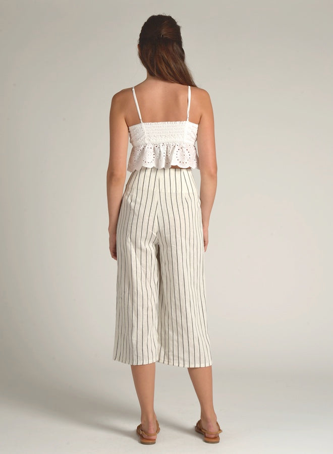 90701 FRONT TIE STRIPED PANTS