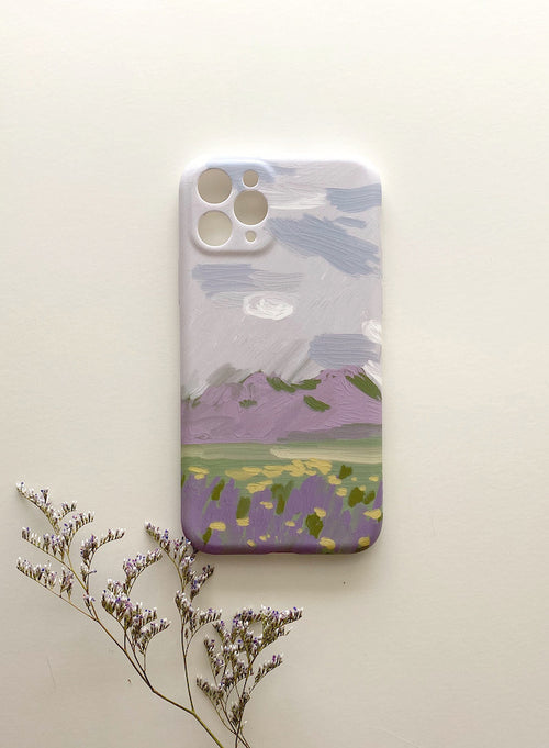 A8821 Lavender Bay Oil Paint Iphone Case 11 Pro