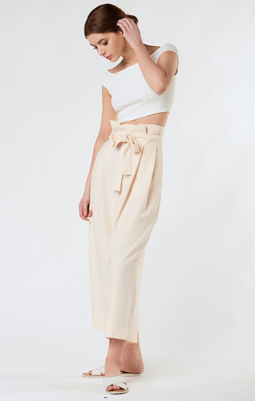 CHLOE HIGH WAISTED BOW TROUSERS