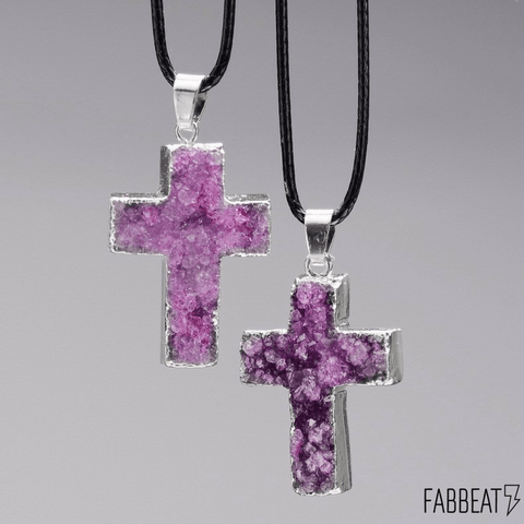 Cross Amethyst Necklace