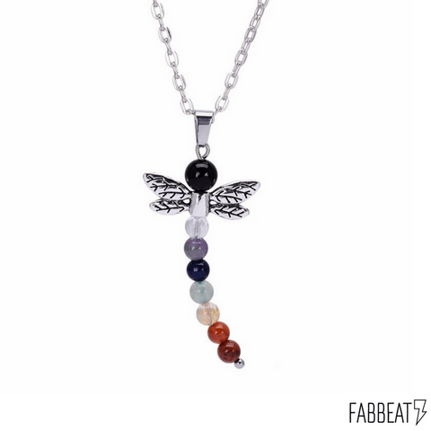 Chakra Healing Dragonfly Necklace