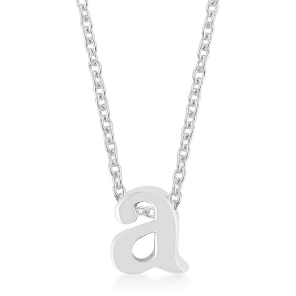 Silver Lowercase Initial Pendant