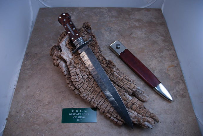 Dog Bone Art Dagger from 1835  Take Down Style