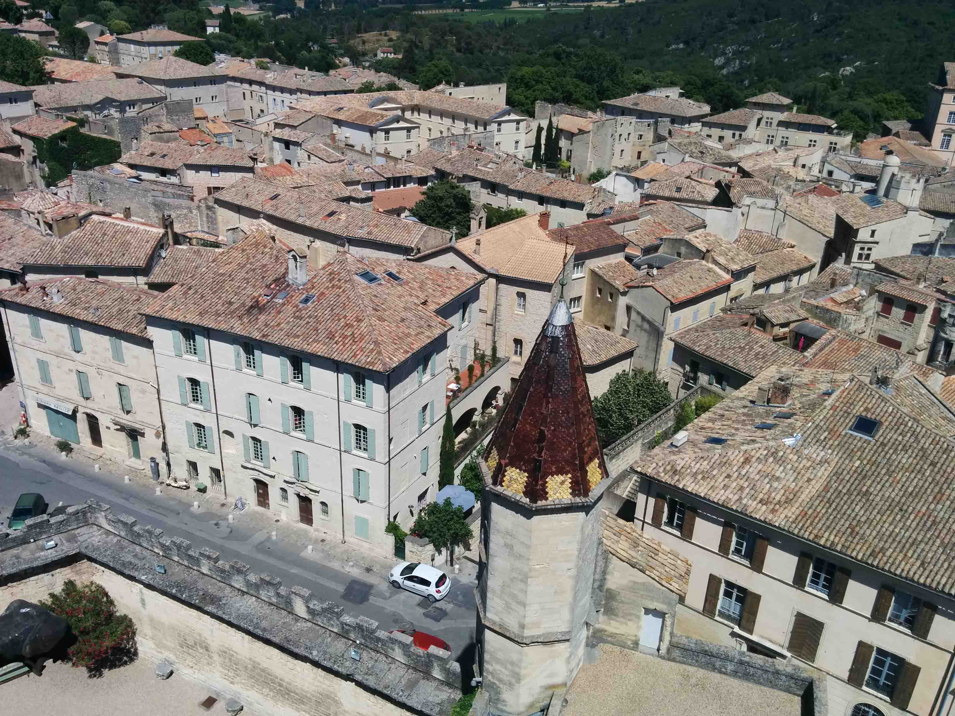 View of Uzes from Duchy tower