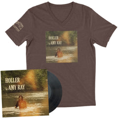"Amy Ray ""Holler"" T-Shirt + LP Bundle"
