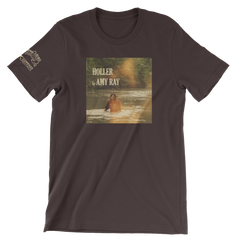 "Amy Ray ""Holler"" T-Shirt - Unisex Crew (Brown)"