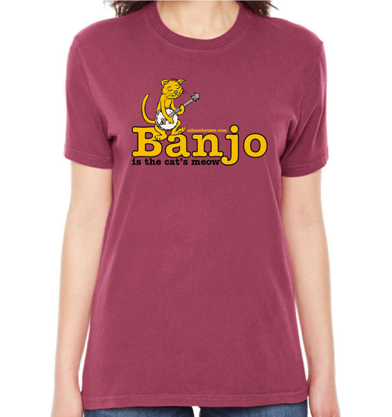 Banjo - Cat's Meow Tee (Ladies - Nautical Red)