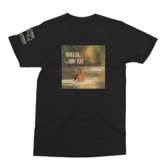 "Amy Ray ""Holler"" T-Shirt - Unisex Crew (Vintage Black)"