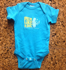 Pick Like A Girl Onesie