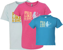 Pick Like A Girl - Kid's T-Shirts