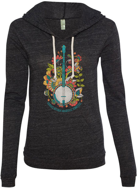 Compass Records Banjo Hoodie [Ladies]