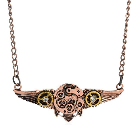 Cog Wings Necklace