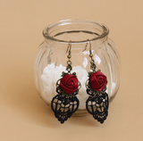 Delicate Rose Lace Earrings
