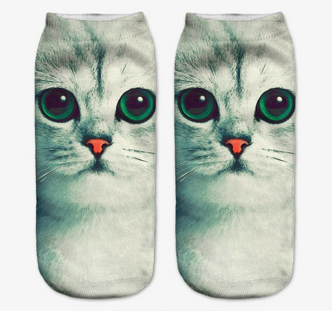 Green Eyed Cat Socks