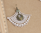 Intricate Ivory Lace Earrings