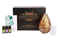 Luxury Diamond Shaped Glass Aroma Diffuser And Essential Oils Gift Set
