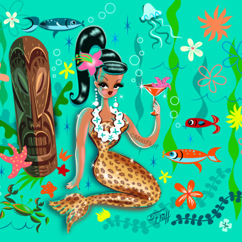 Leopard Tiki Mermaid