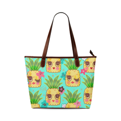 Cute Pineapple tote in Aqua