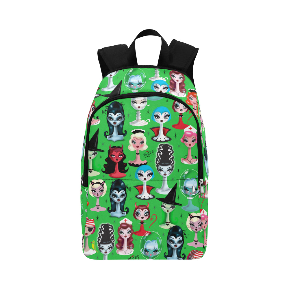 Spooky Dolls Green • Backpack