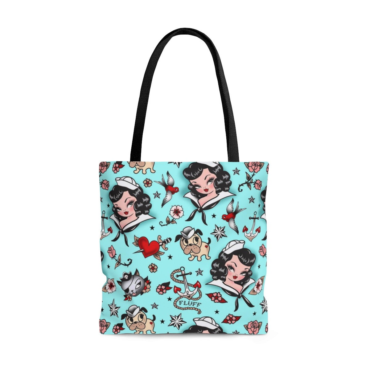 Suzy Sailor Girl on Light Blue • Tote Bag