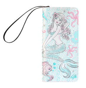 Pink Pearl Beach Mermaid • Clutch Wallet