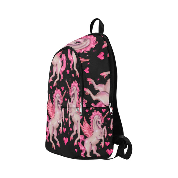 Unicorn Pegasus on Black • Backpack