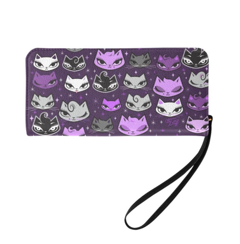 Billy Cats Purple • Clutch Wallet
