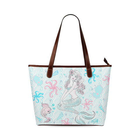 Pink Pearl Beach Mermaid • Purse Tote