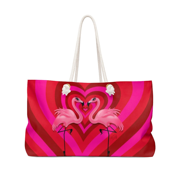 Flamingo Love • Weekender Bag