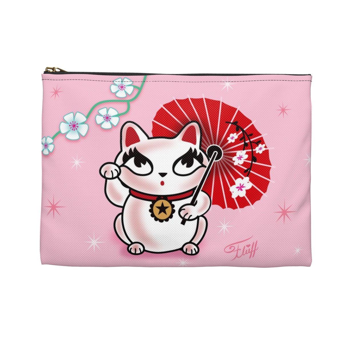 Kyoto Kitty • Carry All Pouch - Flat