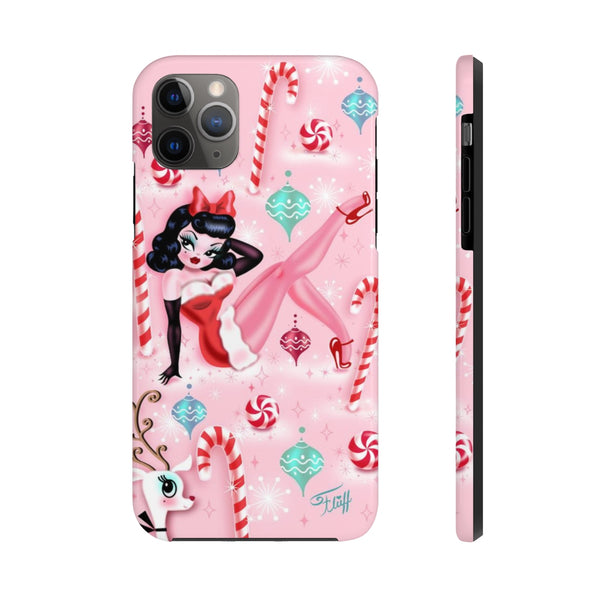 Christmas Pinup Girl • Phone Case